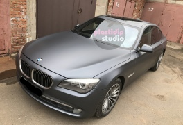 BMW 750i black graphite plastidip