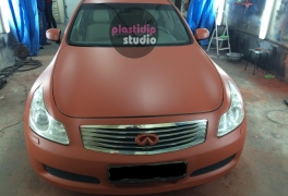 Infiniti brown red мат plastidip
